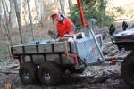 Vozík za čtyřkolku do lesa