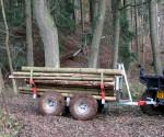 Vozík za čtyřkolku na dřevo