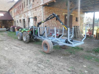 Vyvážečka s rukou za malotraktor