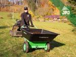 multifunkční vozík Zahrádkář v použití jako klasické kolečko