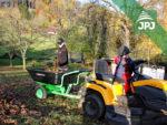 vozík Zahrádkář za zahradním traktůrkem